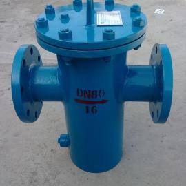 SRBA-16C-DN100铸钢直通型篮式过滤器