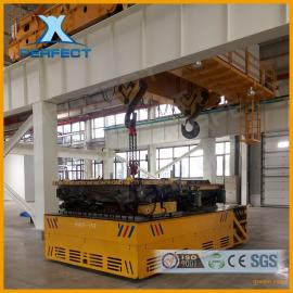 载重50吨爬坡无轨胶轮电动平车 大坡度无轨平板车