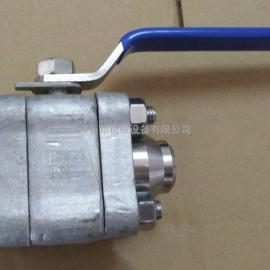 三片式锻造高压球阀 高压方体球阀 片式锻造焊接球阀