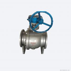 上海风雷蜗轮球阀系列 Q341F 手动球阀 法兰不锈钢球阀 碳钢球阀