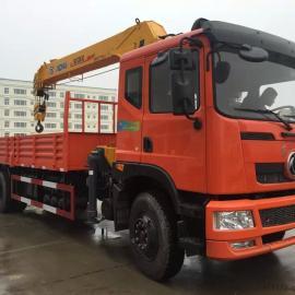徐工12吨随车吊厂家供应,东风后八轮车型,货箱长8.5米
