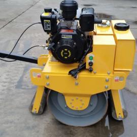 手扶式单钢轮汽油压路机YJ380Q各种型号小型压路机直销