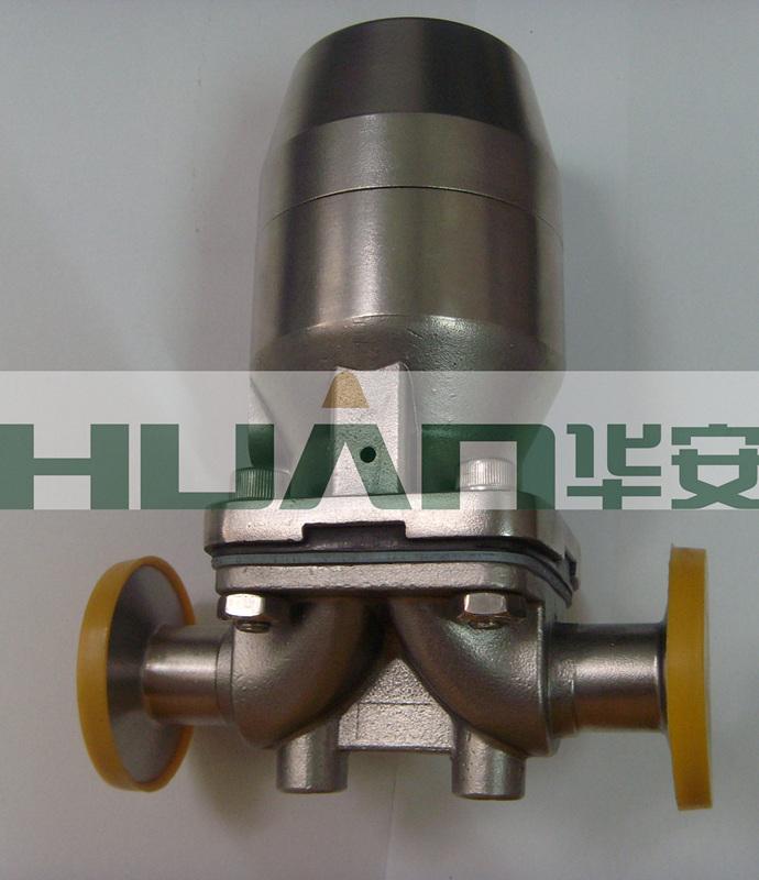 卫生级不锈钢盖米气动快装隔膜阀图片