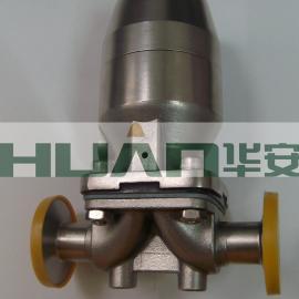 卫生级不锈钢盖米气动快装隔膜阀