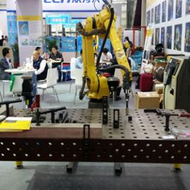 柔性工装夹具,机器人焊接工作站,三维柔性组合焊接工装夹具