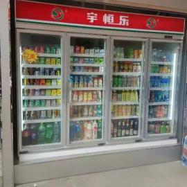 格瑞直销,立式饮料展示柜,风冷啤酒陈列柜,牛奶冷藏摆放柜