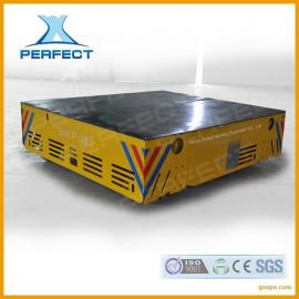 给客户定制的拖电缆供电液压升降无轨道平车、无轨电动平板车