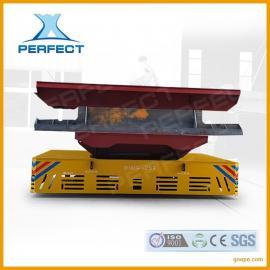 河南食品厂小吨位模具搬运无轨胶轮平板拖车