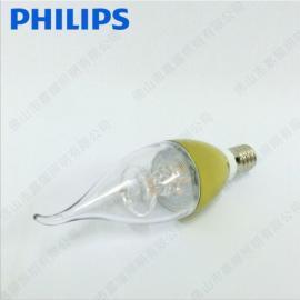 飞利浦拉尾泡3.5W/5W E14 LED拉尾尖泡 蜡烛泡