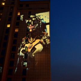 深圳都市巨影W-155城市亮化_景观亮化_户外亮化投影灯