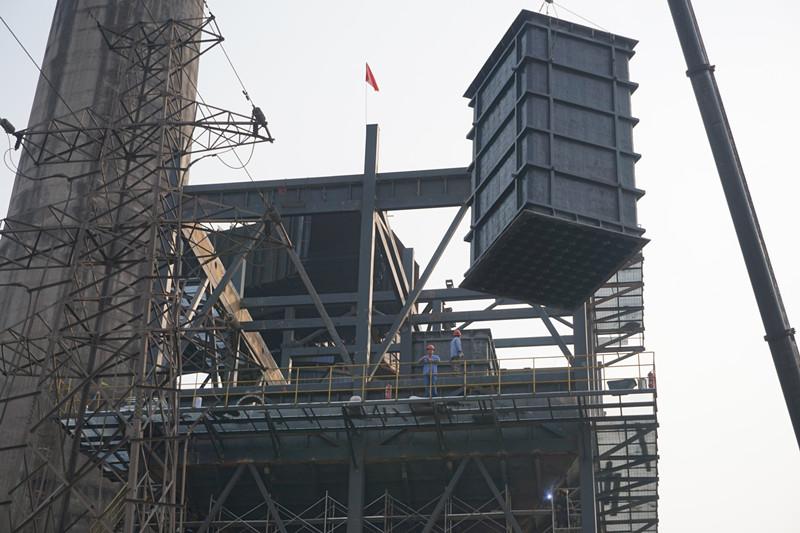 南阳汉冶钢厂使用烟气脱硫除尘设备(WESP)静电除尘器厂家