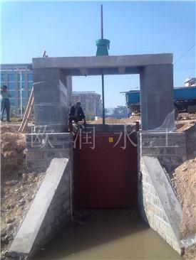 欧润污水处理厂铸铁闸门,铸铁方闸门