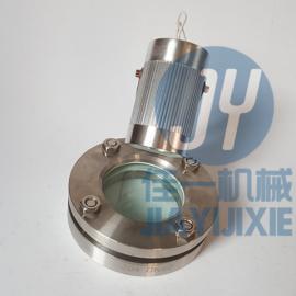 DN80带灯法兰视镜(12V) 带射灯设备视镜 罐用观察孔