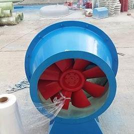 热销玻璃钢风机支持定制批发零售 FSJG- No.4F斜流式管道风机