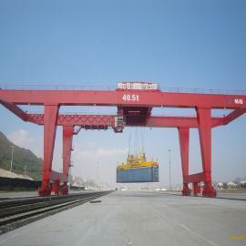 JMG型岸边轨道式集装箱门式起重机 41吨双梁龙门吊