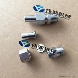 不锈钢变送器接头、焊接式气源接头、焊接式直通终端管接头