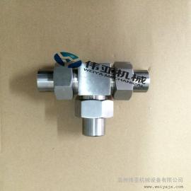 不锈钢活接对焊式三通管接头