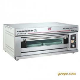 康庭烤箱 一层两盘电烤箱 商用 面包烤箱