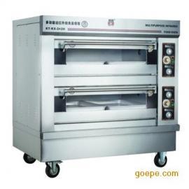 康庭烤箱 两层四盘电烤箱 商用 面包烤箱