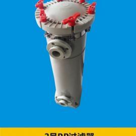 PP2号袋式过滤器 电镀废水塑料过滤器 精细化工PPH过滤器