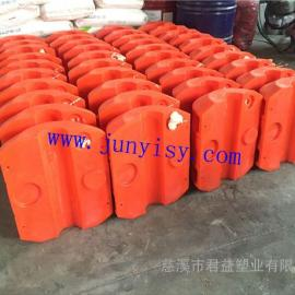 管径110塑料夹管浮体价格 厂家定做海上夹管浮体