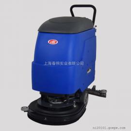 上海洗地机厂家 工厂车间用手推式洗地机全自动洗地机