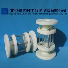 FRPP增强聚丙烯管道视盅 法兰式PP材质玻璃管视盅