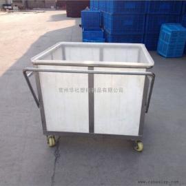 富阳K800L食品级塑料方箱衣物收纳箱海鲜养殖桶厂家直销