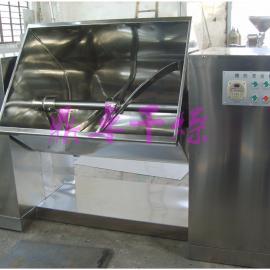 奶茶原材料混合机、槽型螺带式混料机可翻转料斗