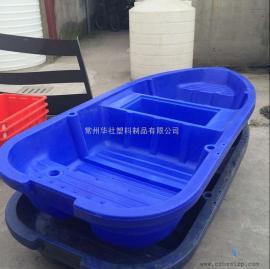常州3米带活鱼苍塑料小船打鱼船休闲娱乐双层鱼船厂家