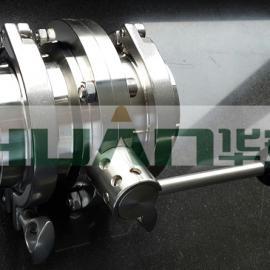 卫生级不锈钢快装蝶阀两边带接头卡箍