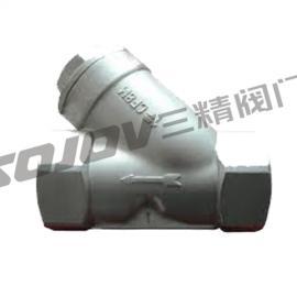 SG11H不锈钢内螺纹Y型过滤器