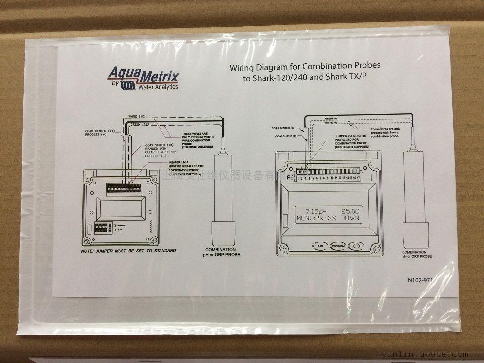 美国AquaMetrix 带温补PH复合电极P575K1