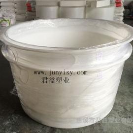 山东1.5立方腌制塑料圆形桶 1.5吨塑料腌制桶价格