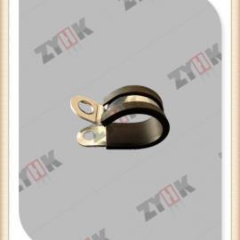不锈钢R型单边固定线卡,EPDM橡胶包塑不锈钢管夹