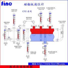 衬PTFE耐腐型(有盲区)磁性翻柱液位计