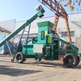 产量高移动式计重型全自动稻壳打包机运行可靠性价比高