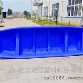 4.1米塑料渔船 水产养殖塑料船