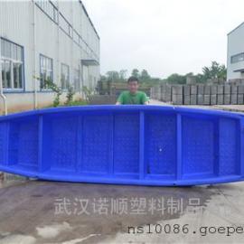 厂家直销4.6米塑料小船 带活鱼舱塑料船 双层打渔船批发