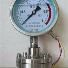 厂家生产直销不锈钢隔膜耐震电接点压力表1.0Mpa螺纹连接