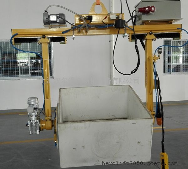 坩埚喷涂电动搬运车、坩埚清洗打磨搬运吸盘吊具
