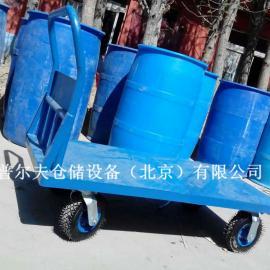 厂家供应手推平板车 工具车现货 北京普尔夫平板车特价