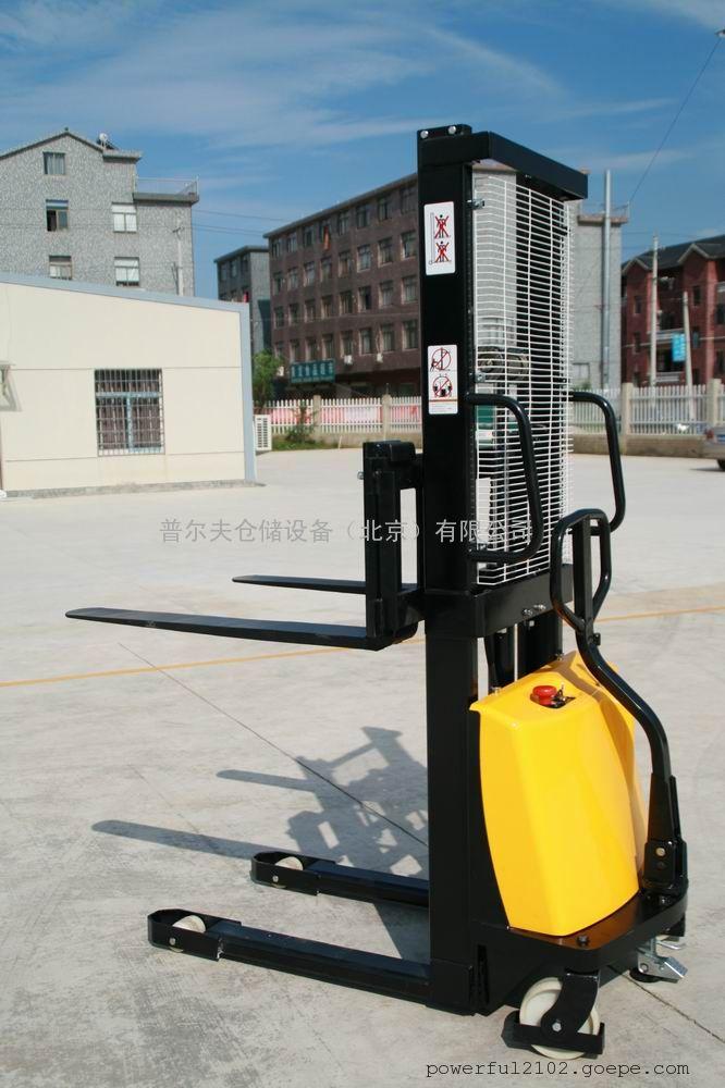 厂家供应半电动堆高车 电动装卸车 电动升高车 1T 1.6m 现货