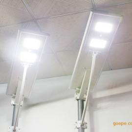 鸿泰简易太阳能路灯安装20W30W40W电线杆改造一体路灯