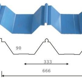 湖南镀锌压型板YX114-333-666屋面彩钢板