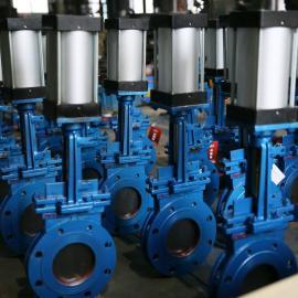 气动薄型闸阀、不锈钢气动纸浆阀、气动浆闸阀