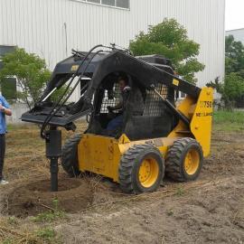 HCN屈恩机具打孔机,滑移装载机螺旋钻,挖机螺旋钻