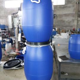 一�Z�G色�h保60升抱箍桶60升法�m桶60升卡子桶60升大口塑料桶60升