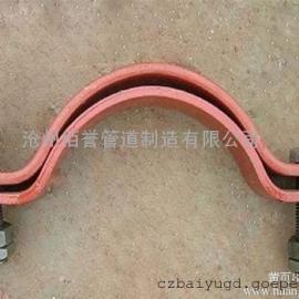 现货销售双排螺栓管夹,汽水管道支吊架连接件管夹
