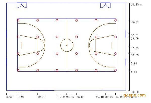 室内篮球馆照明灯,篮球场地灯光设计